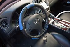 Non Slip Black Blue PVC Leather Steering Wheel Cover Nice Fit Comfortable 51006c