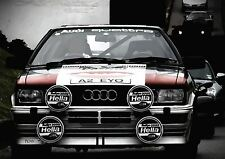 AUDI QUATTRO RALLY RACING CAR SPORTS POSTER PICTURE WALL ART PRINT A3 AMK2302