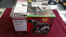 Craftsman 47695 19.2 Volt Lithium-ion Drill/Driver & Circular Saw Combo Set NEW