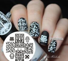 Nail Art Stamping Plate Egypt Style Owl Image Stamp Template BORN PRETTY 05