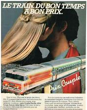 PUBLICITE ADVERTISING 105  1983  SNCF   le train prix couple