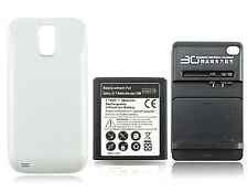 Extended Battery +Charger for Samsung Galaxy S2 T-mobile Hercules SGH-T989 white