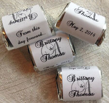 120 MONOGRAM THEMED WEDDING CANDY WRAPPERS/STICKERS/LABELS personalized FAVORS