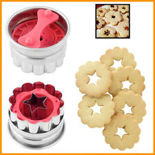 Cookie Plunger Star-Flower Biscuit Cutter SS Home Baking Tool 5cms Shortbread