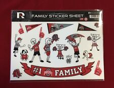 Ohio State Buckeyes Spirit Family Decals NEW car/truck window - Set of 17