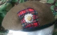 Scots Guards Officers Beret & Embroidered Cap Badge Sizes 56-62