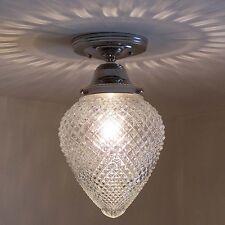 781 Vintage Ceiling Light Lamp Fixture Glass bath hall porch
