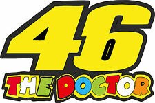Valentino Rossi 46 THE DOCTOR Vinyl Sticker decals 330 x 220 mm AA142a