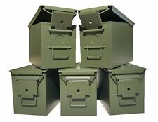 BLANK 5 CANS! FIVE NEW MIL-SPEC FAT 50 CAL PA108 SAW BOX EMPTY AMMO CANS