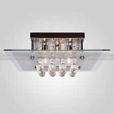 Modern Contemporary Crystal Chrome Flush Mount Chandelier Ceiling Pendant Lights