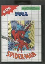 SPIDER-MAN - SEGA MASTER SYSTEM GAME - cased with manual - TESTED AND WORKING OK