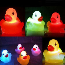 Newborn Baby Bath Time Toy Changing Yellow Duck Flashing LED Lamp Light
