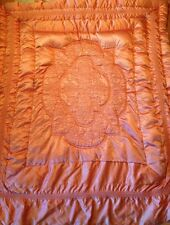 Vtg 1940 Pink Hollywood Glam Liquid Satin Quilt Comforter Vitkin Lee Feather Co