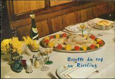 ALSACE CARTE POSTALE RECETTE CUISINE COQ AU RIESLING HOTEL TROIS EPIS