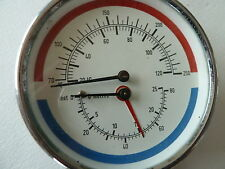 Combined Heating Thermometer / Altitude Gauge with Degrees C / F + Feet  / Metre