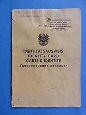 Direzione polizia Vienna tessera di identità 4-multilingue equipaggio tempo 1946