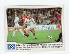 figurina GERMANIA FUSSBALL 80 PANINI NEW NUMERO 163 HSV - BAYERN