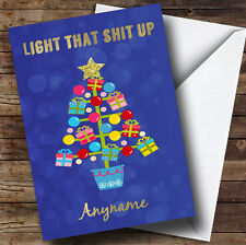 Light That Tree Up Personalised Christmas Card
