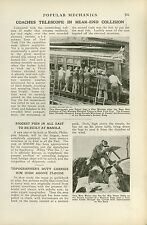 1919 Magazine Pictorial Wreck on Interborough Rapid Transit Line New York IRT