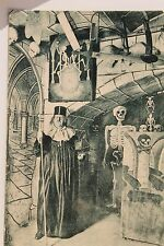 10461 AK DRESDEN Katakomben Dorfschänke Kreuzstr. 11 1913 mit Gerippe