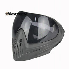 Paintball Airsoft Safety Anti-fog Protective Goggle Full Face Mask + Black Lens