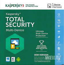 Kaspersky Total Security AntiVirus Internet Security 2016 1 PC 1Year MAC Windows