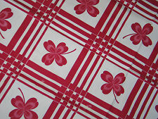 "Dynamic Vintage ""STARTEX"" Printed Tablecloth~Irish 4 Leaf Clover-Shamrock Motif"