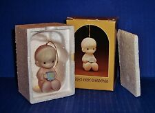 Precious Moments  Baby's First Christmas  Boy  1982  MIB