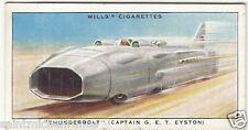 THUNDERBOLT Land Speed Record Captain G. E.T.Eyston V12 ROLLS-ROYCE IMAGE CARD