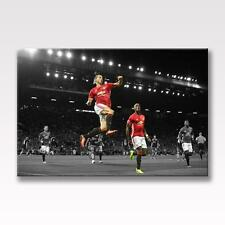 "ZLATAN IBRAHIMOVIC & PAUL POGBA CANVAS Manchester United Poster 30""x20"" CANVAS"