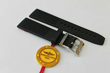 100% Genuine New Breitling Black Ribbed Diver Pro Tang Buckle Strap 22-20mm
