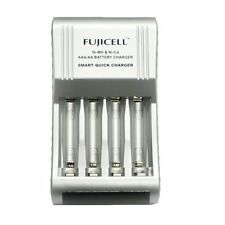 Fujicell Compact Smart Fast AA/AAA Battery Charger Ni-MH & Ni-Cd Batteries New