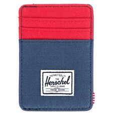 Herschel Supply Co. Men's Raven ID Wallet Navy Blue Red money credit card