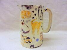 Mignon chats et chatons design 1 pint pitcher pichet par heron cross pottery