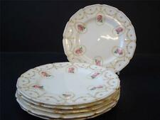 VINTAGE ROYAL DOULTON SWAGS AND PINK ROSE BUDS 6 X TEA / SIDE PLATES