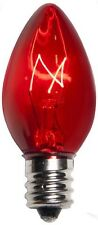 25 C7 Red Transparent Replacement Christmas Bulbs Party Holiday Wedding