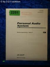 Sony Bedienungsanleitung ZS X3CP Personal Audio System (#2251)