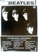 RARE MEET THE BEATLES  JAPAN VINTAGE ORIGINAL MUSIC POSTER