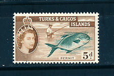TURKS & CAICOS ISLANDS 1957-60 DEFINITIVES SG243 5d (FISH)  MNH