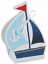 12 NAUTICAL SAILOR TREAT BOXES SAILBOAT NEW Nautical Favors Birthday Baby Shower