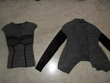 Completo Top  + Cardigan GUESS  LOS ANGELES  in  Maglia  con Strass  Tg 42