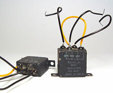 2x 3-fach Frako MP-Kondensator, 3x 0.1 µF / 250V, MIL Spec mit Glasdurchführung