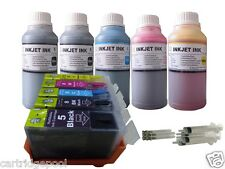 Refillable ink cartridges for Canon PGI-5 CLI-8:MP510 MP520 MP530 +5x250ml/5s 1P