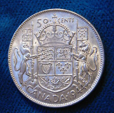 CANADA 1944 silver half dollar fifty 50 cents cent piece Canadian