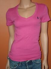 POLO RALPH LAUREN WOMEN'S V-NECK ''PERFECT TEE SPORT  T-SHIRTS SIZES XS,S,M,L,XL