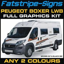 PEUGEOT BOXER LWB MOTORHOME VINYL GRAPHICS STICKERS DECALS STRIPES CAMPER VAN