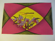 Old Vintage 1930's - French Soap Label - Savon Lavande Unico
