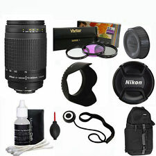 AF Zoom NIKKOR 70-300mm f4-5.6G Lens +BACKPACK FOR NIKON D3100 D3200 D3300 FM2