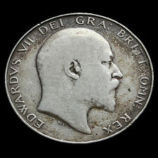 1910 Edward VII Silver Half Crown