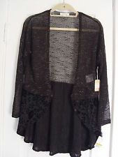 """GORGEOUS KNITTING&VELVET BLACK COCKTAIL TOP BY """"TAYLOR & SAGE"""", SIZE SMALL,CHINA"""